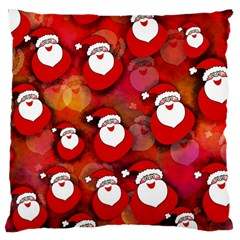 Seamless Santa Tile Large Cushion Case (one Side) by Nexatart