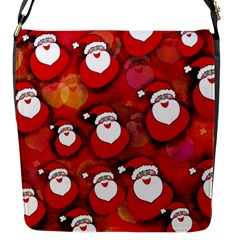 Seamless Santa Tile Flap Messenger Bag (s)