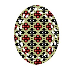 Seamless Tileable Pattern Design Oval Filigree Ornament (two Sides) by Nexatart