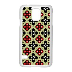 Seamless Tileable Pattern Design Samsung Galaxy S5 Case (white) by Nexatart