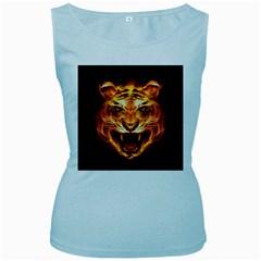 Tiger Women s Baby Blue Tank Top