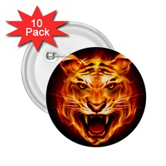 Tiger 2 25  Buttons (10 Pack)