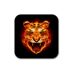 Tiger Rubber Coaster (square)  by Nexatart