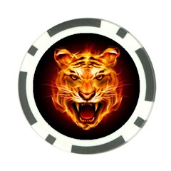 Tiger Poker Chip Card Guard by Nexatart