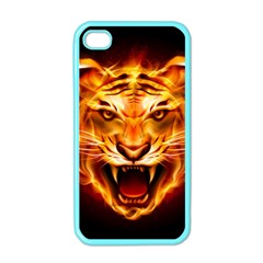 Tiger Apple Iphone 4 Case (color) by Nexatart
