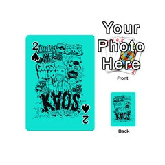 Typography Illustration Chaos Playing Cards 54 (mini)