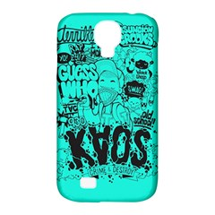 Typography Illustration Chaos Samsung Galaxy S4 Classic Hardshell Case (pc+silicone)