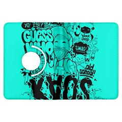 Typography Illustration Chaos Kindle Fire HDX Flip 360 Case by Nexatart