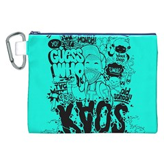 Typography Illustration Chaos Canvas Cosmetic Bag (xxl) by Nexatart