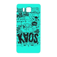 Typography Illustration Chaos Samsung Galaxy Alpha Hardshell Back Case by Nexatart