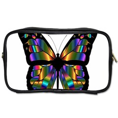 Abstract Animal Art Butterfly Toiletries Bags 2 Side