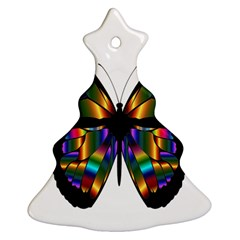 Abstract Animal Art Butterfly Christmas Tree Ornament (two Sides) by Nexatart