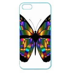 Abstract Animal Art Butterfly Apple Seamless Iphone 5 Case (color) by Nexatart