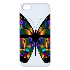 Abstract Animal Art Butterfly Apple Iphone 5 Premium Hardshell Case