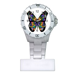 Abstract Animal Art Butterfly Plastic Nurses Watch