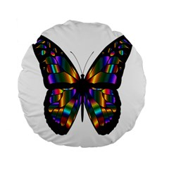 Abstract Animal Art Butterfly Standard 15  Premium Flano Round Cushions by Nexatart
