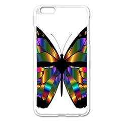 Abstract Animal Art Butterfly Apple Iphone 6 Plus/6s Plus Enamel White Case