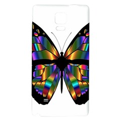 Abstract Animal Art Butterfly Galaxy Note 4 Back Case by Nexatart