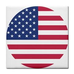 American Flag Tile Coasters