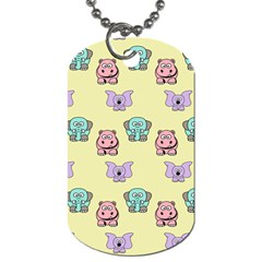 Animals Pastel Children Colorful Dog Tag (one Side)