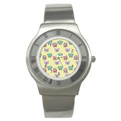 Animals Pastel Children Colorful Stainless Steel Watch by Nexatart