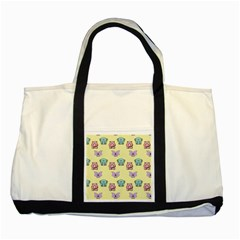 Animals Pastel Children Colorful Two Tone Tote Bag by Nexatart