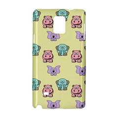 Animals Pastel Children Colorful Samsung Galaxy Note 4 Hardshell Case by Nexatart