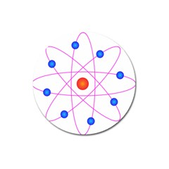 Atom Model Vector Clipart Magnet 3  (round)