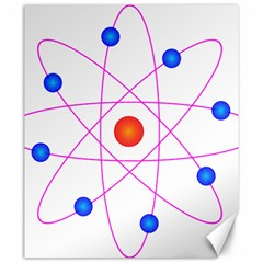 Atom Model Vector Clipart Canvas 20  X 24   by Nexatart