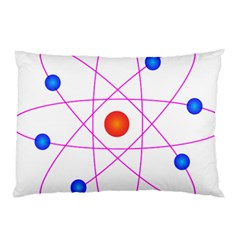 Atom Model Vector Clipart Pillow Case (two Sides) by Nexatart
