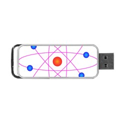 Atom Model Vector Clipart Portable Usb Flash (one Side) by Nexatart