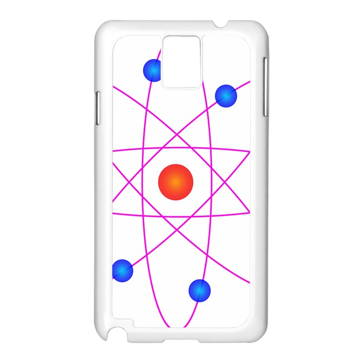 Atom Model Vector Clipart Samsung Galaxy Note 3 N9005 Case (White)