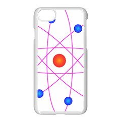Atom Model Vector Clipart Apple iPhone 7 Seamless Case (White) by Nexatart