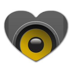 Audio Loadspeaker Activ Heart Mousepads by Nexatart