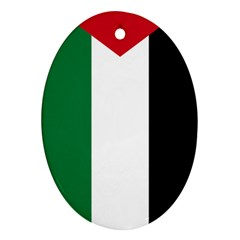 Palestine Flag Oval Ornament (two Sides) by Nexatart