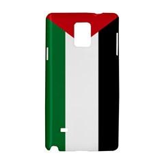Palestine Flag Samsung Galaxy Note 4 Hardshell Case by Nexatart