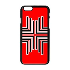 Backdrop Background Pattern Apple Iphone 6/6s Black Enamel Case
