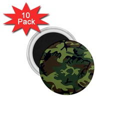 Camouflage Green Brown Black 1 75  Magnets (10 Pack)  by Nexatart