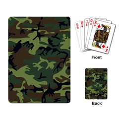 Camouflage Green Brown Black Playing Card by Nexatart