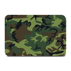 Camouflage Green Brown Black Plate Mats