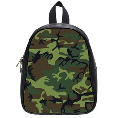 Camouflage Green Brown Black School Bags (small)  by Nexatart