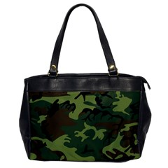 Camouflage Green Brown Black Office Handbags