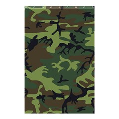 Camouflage Green Brown Black Shower Curtain 48  X 72  (small)  by Nexatart