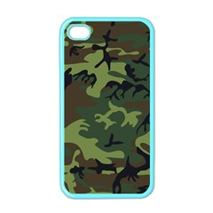 Camouflage Green Brown Black Apple Iphone 4 Case (color) by Nexatart
