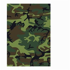 Camouflage Green Brown Black Small Garden Flag (two Sides)