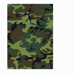 Camouflage Green Brown Black Large Garden Flag (two Sides) by Nexatart