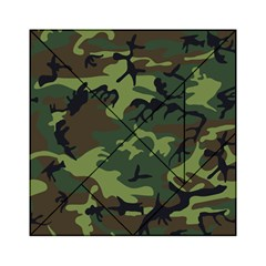 Camouflage Green Brown Black Acrylic Tangram Puzzle (6  X 6 ) by Nexatart