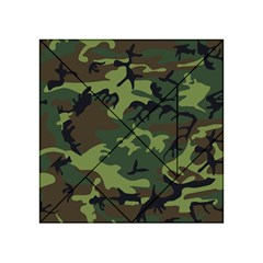 Camouflage Green Brown Black Acrylic Tangram Puzzle (4  X 4 ) by Nexatart