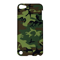 Camouflage Green Brown Black Apple Ipod Touch 5 Hardshell Case by Nexatart