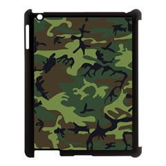 Camouflage Green Brown Black Apple Ipad 3/4 Case (black)
